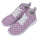 SCALES1 WHITE MARBLE & PINK DENIM (R) Women s Lightweight High Top Sneakers View2