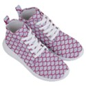 SCALES1 WHITE MARBLE & PINK DENIM (R) Women s Lightweight High Top Sneakers View3