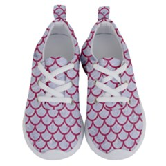 Scales1 White Marble & Pink Denim (r) Running Shoes
