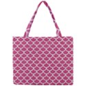 SCALES1 WHITE MARBLE & PINK DENIM Mini Tote Bag View1