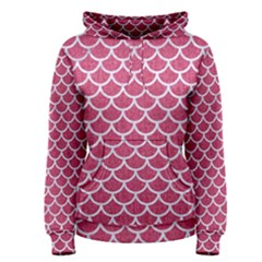 Scales1 White Marble & Pink Denim Women s Pullover Hoodie