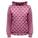 SCALES1 WHITE MARBLE & PINK DENIM Women s Pullover Hoodie View1