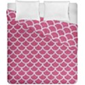 SCALES1 WHITE MARBLE & PINK DENIM Duvet Cover Double Side (California King Size) View1