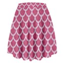SCALES1 WHITE MARBLE & PINK DENIM High Waist Skirt View2