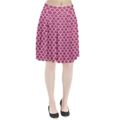 Scales1 White Marble & Pink Denim Pleated Skirt