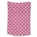 SCALES1 WHITE MARBLE & PINK DENIM Large Tapestry View1