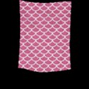 SCALES1 WHITE MARBLE & PINK DENIM Large Tapestry View2