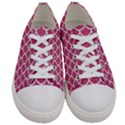 SCALES1 WHITE MARBLE & PINK DENIM Women s Low Top Canvas Sneakers View1