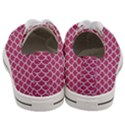 SCALES1 WHITE MARBLE & PINK DENIM Women s Low Top Canvas Sneakers View4