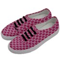 SCALES1 WHITE MARBLE & PINK DENIM Men s Classic Low Top Sneakers View2