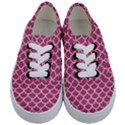 SCALES1 WHITE MARBLE & PINK DENIM Kids  Classic Low Top Sneakers View1