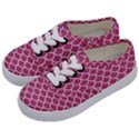 SCALES1 WHITE MARBLE & PINK DENIM Kids  Classic Low Top Sneakers View2