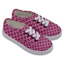 SCALES1 WHITE MARBLE & PINK DENIM Kids  Classic Low Top Sneakers View3