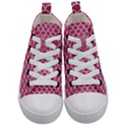 SCALES1 WHITE MARBLE & PINK DENIM Kid s Mid-Top Canvas Sneakers View1