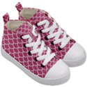 SCALES1 WHITE MARBLE & PINK DENIM Kid s Mid-Top Canvas Sneakers View3