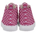 SCALES1 WHITE MARBLE & PINK DENIM Kid s Mid-Top Canvas Sneakers View4