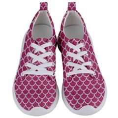 Scales1 White Marble & Pink Denim Women s Lightweight Sports Shoes