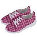 SCALES1 WHITE MARBLE & PINK DENIM Women s Lightweight Sports Shoes View2
