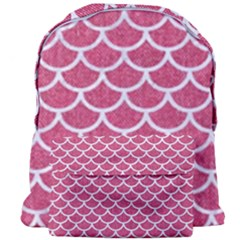 Scales1 White Marble & Pink Denim Giant Full Print Backpack by trendistuff