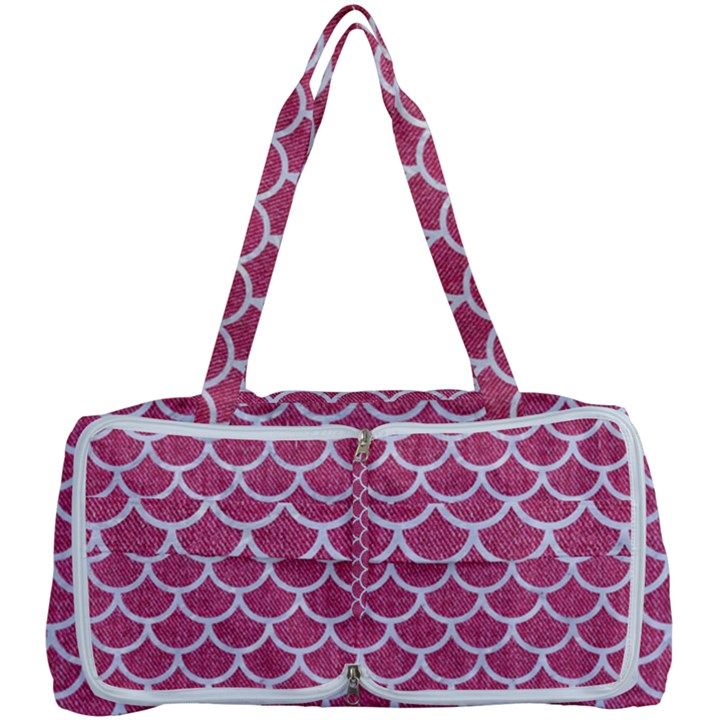 SCALES1 WHITE MARBLE & PINK DENIM Multi Function Bag