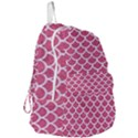 SCALES1 WHITE MARBLE & PINK DENIM Foldable Lightweight Backpack View3