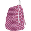 SCALES1 WHITE MARBLE & PINK DENIM Foldable Lightweight Backpack View4