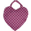 SCALES1 WHITE MARBLE & PINK DENIM Giant Heart Shaped Tote View1