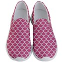 SCALES1 WHITE MARBLE & PINK DENIM Men s Lightweight Slip Ons View1
