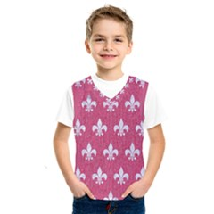 Royal1 White Marble & Pink Denim (r) Kids  Sportswear