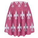 ROYAL1 WHITE MARBLE & PINK DENIM (R) High Waist Skirt View2