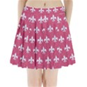 ROYAL1 WHITE MARBLE & PINK DENIM (R) Pleated Mini Skirt View1