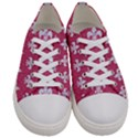 ROYAL1 WHITE MARBLE & PINK DENIM (R) Women s Low Top Canvas Sneakers View1