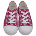 ROYAL1 WHITE MARBLE & PINK DENIM (R) Kids  Low Top Canvas Sneakers View1