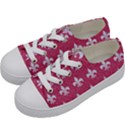 ROYAL1 WHITE MARBLE & PINK DENIM (R) Kids  Low Top Canvas Sneakers View2