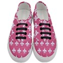 ROYAL1 WHITE MARBLE & PINK DENIM (R) Women s Classic Low Top Sneakers View1