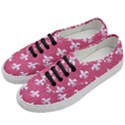 ROYAL1 WHITE MARBLE & PINK DENIM (R) Women s Classic Low Top Sneakers View2
