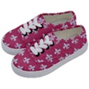 ROYAL1 WHITE MARBLE & PINK DENIM (R) Kids  Classic Low Top Sneakers View2