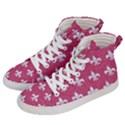 ROYAL1 WHITE MARBLE & PINK DENIM (R) Men s Hi-Top Skate Sneakers View2