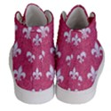 ROYAL1 WHITE MARBLE & PINK DENIM (R) Men s Hi-Top Skate Sneakers View4