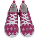 ROYAL1 WHITE MARBLE & PINK DENIM (R) Women s Lightweight Sports Shoes View1