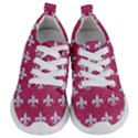ROYAL1 WHITE MARBLE & PINK DENIM (R) Kids  Lightweight Sports Shoes View1