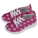 ROYAL1 WHITE MARBLE & PINK DENIM (R) Kids  Lightweight Sports Shoes View2