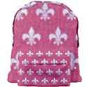 ROYAL1 WHITE MARBLE & PINK DENIM (R) Giant Full Print Backpack View1