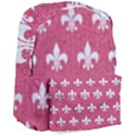ROYAL1 WHITE MARBLE & PINK DENIM (R) Giant Full Print Backpack View3