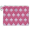 ROYAL1 WHITE MARBLE & PINK DENIM (R) Canvas Cosmetic Bag (XXL) View1