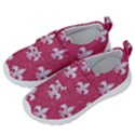ROYAL1 WHITE MARBLE & PINK DENIM (R) Velcro Strap Shoes View2