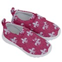 ROYAL1 WHITE MARBLE & PINK DENIM (R) Velcro Strap Shoes View3