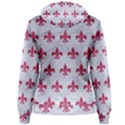 ROYAL1 WHITE MARBLE & PINK DENIM Women s Pullover Hoodie View2