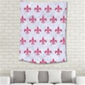 ROYAL1 WHITE MARBLE & PINK DENIM Medium Tapestry View2