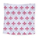 ROYAL1 WHITE MARBLE & PINK DENIM Square Tapestry (Large) View1